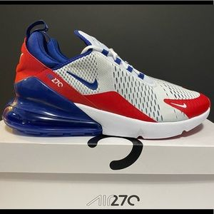 NIKE AIR MAX 270 - WHITE, RED & BLUE. **SIZE 13**